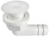Extra kleiner Nylon-Decksabfluss Oberteil 45mm, Schlauchanschluss 19mm