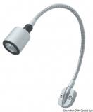 LED Kojen und Kartenleuchte mit flexiblen Arm, 130mm, titan silber 6 SMD LED
