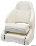 Anatomischer Sitz mit flip up H52-Polsterung weiß