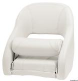Anatomischer Sitz mit flip up H52R-Polsterung weiß