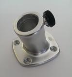 Flaggenstockhalter aus eloxiertem Aluminium mit Neigung 25mm