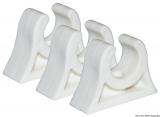 Clips für Rohre, Riemen, Ruderarme, Bootshaken usw. Farbe weiß 40mm