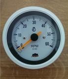 TREM Drehzahlmesser 96mm 0-6000 RPM weiß-weiß