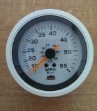 TREM Speedometer 96mm 0-6000 RPM weiß-weiß