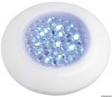 Wasserdichte Deckenleuchte, weiß m. blau LED IP40