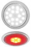 Day und Night LED-Deckenleuchte ohne Einbau weiß Blendring verchromt