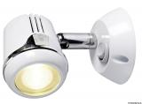 Schwenkbare Leuchte, weiß HI-POWER LED 12 und 24 V 1,32W