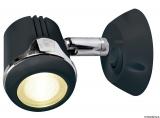 Schwenkbare Leuchte, schwarz HI-POWER LED 12 und 24 V 1,32W
