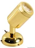 LED Schwenkbare Leuchte ABS Messing, poliert 1 x 3 W HD
