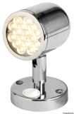 Schwenkbare Leuchte LED mit Schalter VA-Stahl, poliert