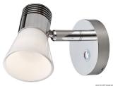 Dimmerbare LED-Strahler Aluminium, vernickelt mit Glasreflektor