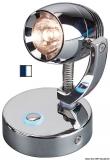 Dimmerbare LED-Strahler chrom, poliert  weiß und blau LED