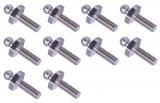 LOXX Marine kurzer Bolzen aus verchromtem Messing für GfK & Metalle M5x10mm, 10 Stück