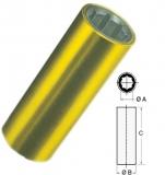Schiffswellenlager mit Außenarmierung in Messing A 25 mm B 38,1mm (1 1/2)