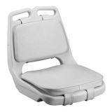 Bootsstuhl Steuerstuhl WHITE SEAT SHELL INJECTED WITH CUSHIONS