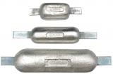 Rumpfanode Magnesium 0,75kg mit Anschweißlasche