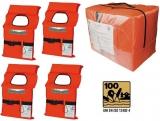 4 x Rettungswesten NADIR Adult im 4-er Pack mit Tasche Typ Norman ISO 12402-4 100 N