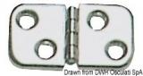 Scharnier, VA-Stahl  poliert 60x32 mm
