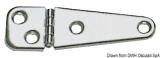 Scharnier, VA-Stahl  poliert 103x32 mm Asymmetrisches