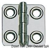 Scharnier AISI316, Stärke 1,5 mm poliert 44x46 mm