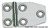 Scharnier AISI316, Stärke 1,5 mm poliert 73x46 mm