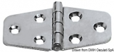 Scharnier rostfreiem Stahl 70x38 mm Stärke 1,7mm
