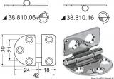 Scharnier Edelstahl herausragender Kern 42x30 mm