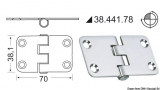 Scharnier Edelstahl Umgekehrter Kern 70x38,1 mm