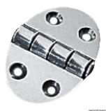 Schanier, oval 35x51 mm Schraubenbefestigung 1,5 mm