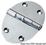 Schanier, oval 78x56 mm Schraubenbefestigung  3 mm