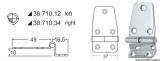 Scharniere zum stecken, doppelte gewinkelte Version 65,5x37mm 16,5mm Version Links