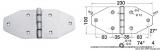 Scharnier aus hochglanzpoliertem rostfreien Edelstahl AISI 316 230x100mm
