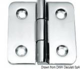 Scharnier verchromten hochglanzpolierten Inox Stahl 316 Typ A 180Grad AISI 316 66x66 mm