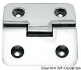 Scharnier verchromten hochglanzpolierten Inox Stahl 316 Typ B 95 Grad AISI 316 66x66 mm