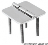 Scharnier verchromten hochglanzpolierten Inox Stahl 316 Typ D 180 Grad AISI 316 66x66 mm