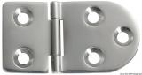 Scharnier verchromten hochglanzpolierten Inox Stahl 316 Typ A 180Grad AISI 316 76x40 mm