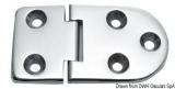 Scharnier verchromten hochglanzpolierten Inox Stahl 316 Typ B 95 Grad AISI 316 76x40 mm