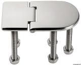 Scharnier verchromten hochglanzpolierten Inox Stahl 316 Typ C 95 Grad AISI 316 76x40 mm