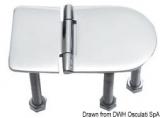Scharnier verchromten hochglanzpolierten Inox Stahl 316 Typ D 180 Grad AISI 316 76x40 mm