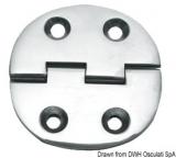 Scharnier verchromten hochglanzpolierten Inox Stahl 316 Typ B 95 Grad AISI 316 65x65 mm