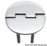 Scharnier verchromten hochglanzpolierten Inox Stahl 316 Typ C 95 Grad AISI 316 65x65 mm