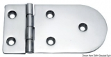 Scharnier verchromten hochglanzpolierten Inox Stahl 316 Typ A 180Grad AISI 316 128x65 mm