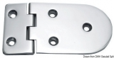 Scharnier verchromten hochglanzpolierten Inox Stahl 316 Typ B 95 Grad AISI 316 128x65 mm