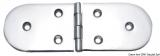 Scharnier verchromten hochglanzpolierten Inox Stahl 316 Typ A 180Grad AISI 316 190x65 mm