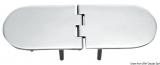 Scharnier verchromten hochglanzpolierten Inox Stahl 316 Typ C 95 Grad AISI 316 190x65 mm
