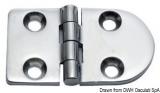 Scharnier verchromten hochglanzpolierten Inox Stahl 316 Typ A 180Grad AISI 316 70x40 mm