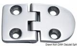 Scharnier verchromten hochglanzpolierten Inox Stahl 316 Typ B 95 Grad AISI 316 70x40 mm