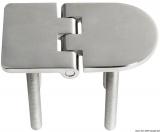 Scharnier verchromten hochglanzpolierten Inox Stahl 316 Typ C 95 Grad AISI 316 70x40 mm