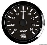 Amperemeter 80-0-80 Anzeige schwarz Blende schwarz
