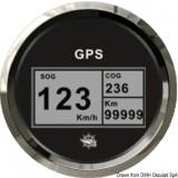 GPS Geschwindigkeitsmesser  Typ 2 Anzeige schwarz, Ring poliert  Kein Geber notwendig.